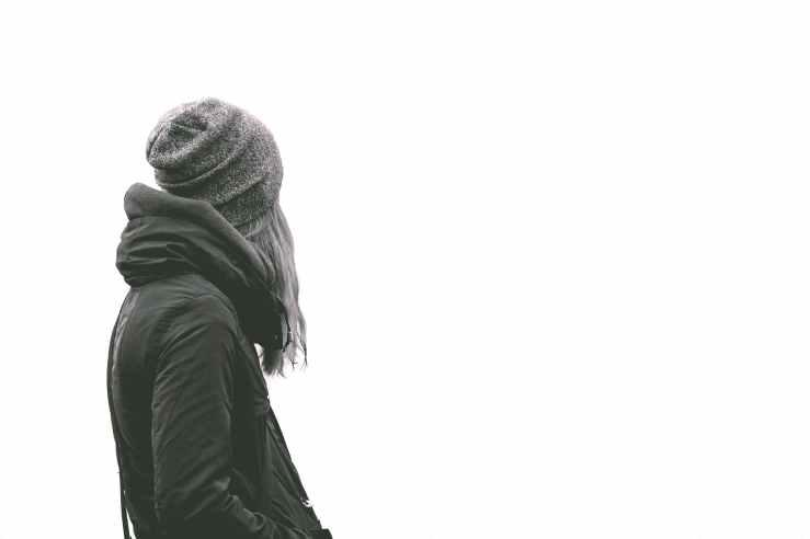 black and white girl whitespace jacket