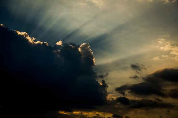 clouds weather sunlight sunrays